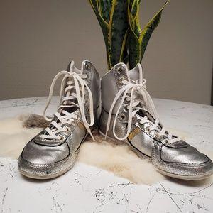 Creative Recreation silver high top sneakers